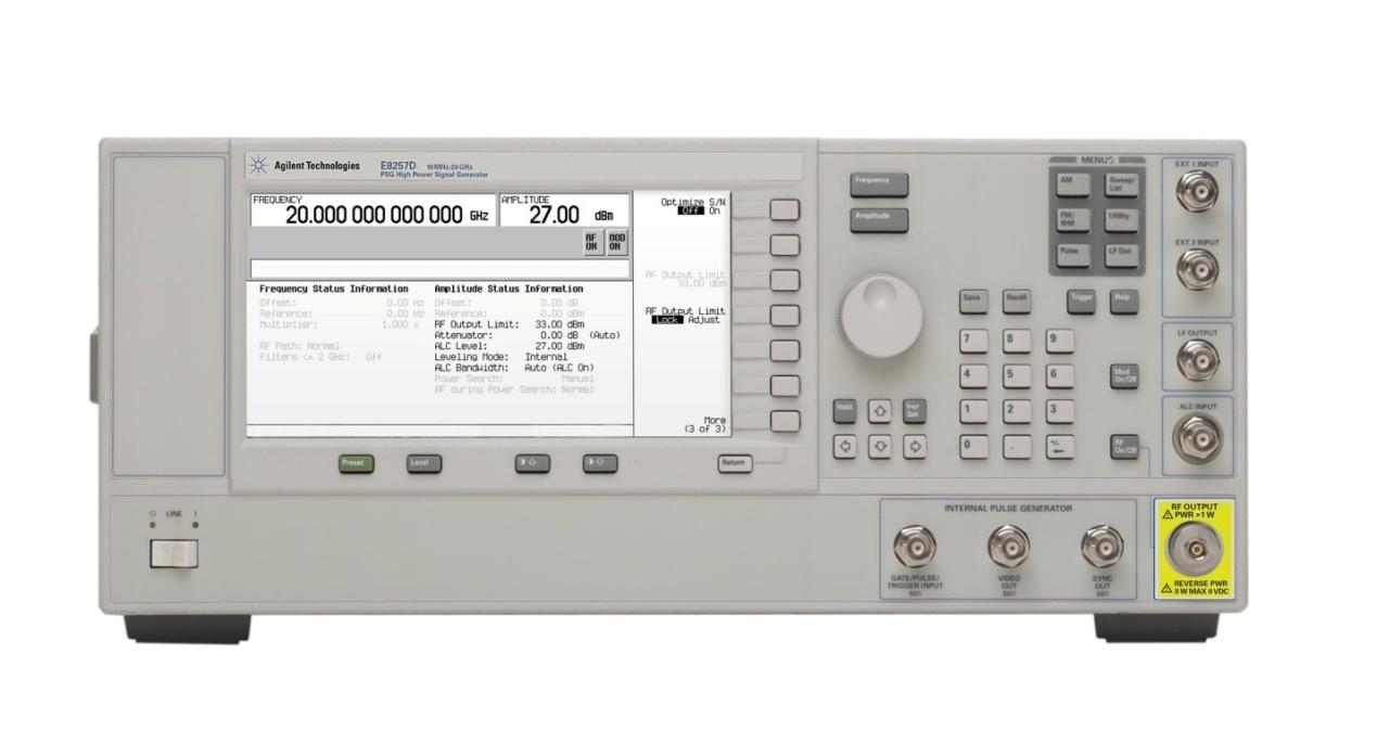 深圳信号源E8257D PSG 模拟信号发生器(100 kHz 至高达 67 GHz)