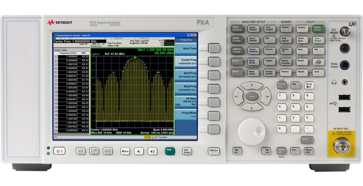 合肥频谱分析仪 N9030A PXA 信号分析仪(3 Hz 至 50 GHz)