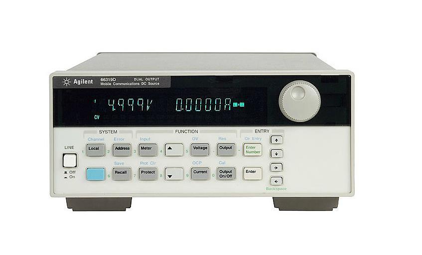 直流电源 66319D 双路移动通信直流电源, 带电池仿真和DVM